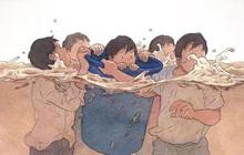 """""""Con thuyền Noah"""": Hình ảnh gây xúc động khi 11 thanh niên lao vào dòng nước xiết giải cứu 3 nạn nhân mắc kẹt trong chiếc xe bị ngập"""
