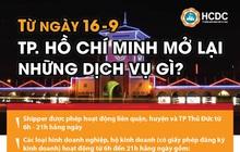 CLIP: Những dịch vụ được mở lại từ ngày 16-9 tại TP HCM