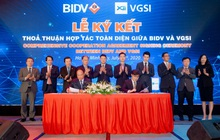 Lễ ký kết thỏa thuận hợp tác toàn diện giữa BIDV và VGSI
