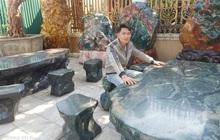 Tranh đá quý trên nền đá độc đáo của thương hiệu đá phong thuỷ - mỹ nghệ Lục Yên