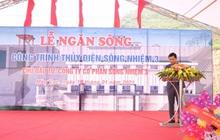 Licogi 13 tổ chức lễ ngăn sông Thủy điện Sông Nhiệm 3