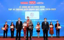 Masterise Homes được vinh danh Top 10 Thương hiệu mạnh Việt Nam 2021