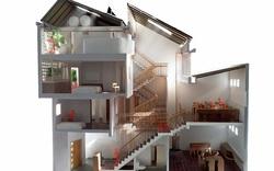 Ngôi nhà phố giản dị ở Hưng Yên sử dụng loạt giải pháp để trữ nước mưa
