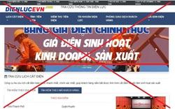 Xuất hiện website giả mạo EVN