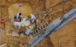 Vỡ đường ống lần thứ 10, 70.000 hộ dân mất nước