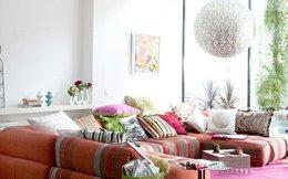 Đón hè rực rỡ với phòng khách mang phong cách Bohemian