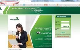 Website giả mạo ngân hàng tiếp tục đi lừa người dùng