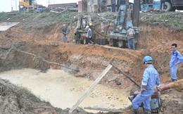 Sáng 26-9, đường ống nước sông Đà vỡ lần thứ 15
