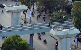 Tháo dỡ cầu đi bộ để phục vụ dự án đường sắt Cát Linh – Hà Đông
