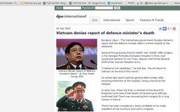 DPA thay bản tin về đại tướng Phùng Quang Thanh