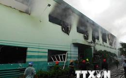 Cháy lớn thiệu rụi hơn 3.000m2 nhà xưởng sản xuất chỉ, sợi