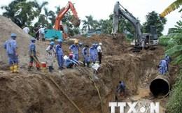 Hà Nội cấp nước luân phiên do sự cố vỡ đường ống nước Sông Đà