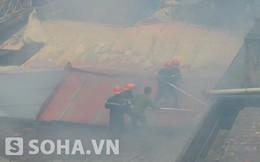 Hà Nội: 7 xe cứu hỏa dập đám cháy tại Công ty in Thống Nhất