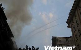Hà Nội: Cháy lớn tại khu tập thể Trần Quốc Toản