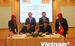 Việt Nam và Malaysia ký Hiệp định hợp tác hàng không dân dụng