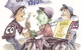"""""""Cò"""" dịch vụ đăng ký xe máy: """"Đưa 3,8 triệu đồng, 30 phút sau có giấy tờ""""!"""