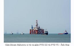 Hàng loạt giàn khoan dầu nằm phơi nắng