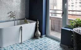 Gạch lát độc đáo, ấn tượng cho phòng tắm