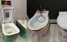 Bí mật toilet dát vàng, gắn đá quý trong nhà đại gia Hà Thành