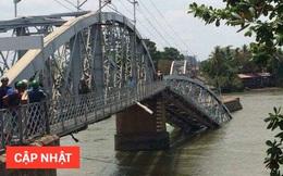 Sập cầu Ghềnh ở Biên Hòa, nhiều người rơi xuống sông, đường sắt Bắc Nam bị ảnh hưởng