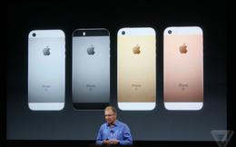 Apple công bố iPhone SE: giá chưa tới 9 triệu đồng, vỏ iPhone 5, ruột iPhone 6s, thêm màu vàng hồng