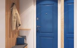 Nhà 34m2 trẻ trung với màu xanh nước biển