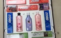 """448 thùng mỹ phẩm Hàn Quốc """"đội lốt"""" bảng mạnh điện tử"""