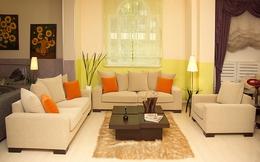 """Phòng khách """"tỏa nắng"""" với màu vàng chanh"""