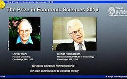 Hai giáo sư Harvard và MIT chia nhau giải Nobel Kinh tế 2016