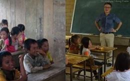 2 năm trước GS Ngô Bảo Châu dạy học trên nền đất, 2 năm sau nơi ấy đã là lớp học khang trang