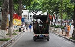 Xe biển xanh không được phép vào phố đi bộ quanh Hồ Gươm
