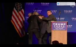 Đang nói, Trump được mật vụ đưa khỏi sân khấu Naveda khẩn cấp
