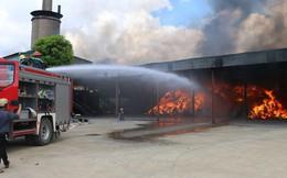 Cháy lớn tại nhà máy xử lý rác thải ở Hoằng Hóa