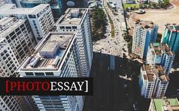 """Toàn cảnh cung đường 1km """"cõng"""" 40 tòa chung cư cao tầng"""