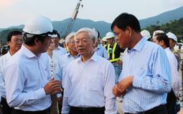 Tổng bí thư Nguyễn Phú Trọng thăm Dự án trọng điểm Quốc gia Hầm Đèo Cả