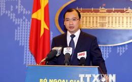 Trao công hàm phản đối Trung Quốc đưa giàn khoan vào Vịnh Bắc Bộ