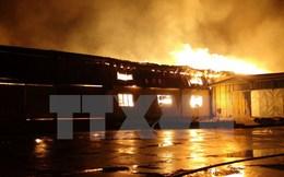 Bình Phước: Cháy kinh hoàng ở khu công nghiệp Minh Hưng-Hàn Quốc 2