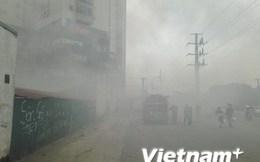 Cận cảnh đám cháy tại Công ty Điện lực Nam Từ Liêm