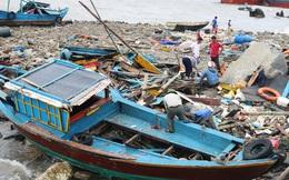 Bão số 2: Tan hoang ở cảng Hòn La sau bão đi qua