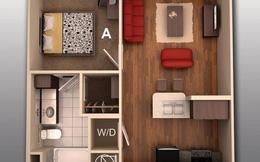 Học cách thiết kế ý tưởng căn hộ 1 phòng ngủ siêu tiện nghi