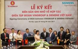 Vingroup và Siemens ký biên bản ghi nhớ hợp tác trong 3 lĩnh vực ô tô, bất động sản và y tế
