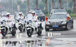 Đoàn xe Chủ tịch Trung Quốc Tập Cận Bình đã về đến khách sạn tại Hà Nội