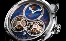 Cận cảnh cỗ máy đếm thời gian như vũ trụ thu nhỏ Louis Moinet Space Mystery - chiếc đồng hồ duy nhất chứa đá vũ trụ đích thực