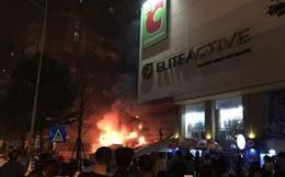 Cháy lớn tại cửa hàng trên đường Nguyễn Trãi