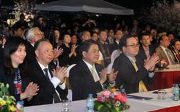Bí thư, Chủ tịch Hà Nội dự lễ khai mạc triển lãm Lễ hội hoa anh đào