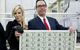 Bộ trưởng Tài chính Mỹ thị sát nhà máy in tiền, nơi tên ông nằm trên tờ 1 USD mới