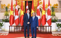 Chùm ảnh: Thủ tướng Nguyễn Xuân Phúc đón Thủ tướng Canada