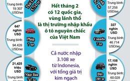 Infographics: 12 thị trường NK ô tô nguyên chiếc của Việt Nam