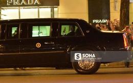 Tổng thống Donald Trump đã về đến khách sạn tại trung tâm Hà Nội, vẫy tay chào người dân