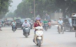 Căng mắt qua đoạn đường mịt mù bụi giữa Thủ đô